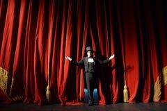 pojęcia zasłony prezentaci czerwony przedstawienie sceny teatr Obrazy Stock
