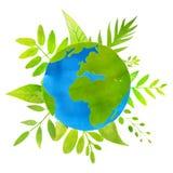 pojęcia ziemska świeża kuli ziemskiej trawy zieleni planeta ziemska ilustracja z Fotografia Royalty Free