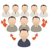 Pojęcie, środki masowego przekazu, wirusowy marketing, pomysł Fotografia Stock