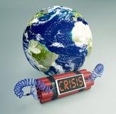 Pojęcie światowy kryzys - elementy ten wizerunek meblujący NA Obrazy Royalty Free