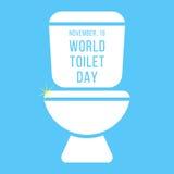 Pojęcie światowy toaletowy dzień z inskrypcją dalej ilustracja wektor