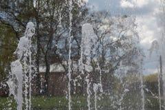Pojęcie świeżości wodnych fontann park Zdjęcia Stock