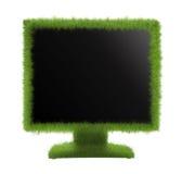 Pojęcie życzliwy monitor Monitor lub TV trawiaści Fotografia Royalty Free