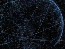 pojęcie abstrakcjonistyczna technologia Cyfrowego świat Obraz Stock