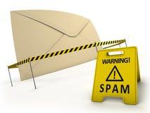 pojęcie anty spam Zdjęcia Stock