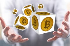 Pojęcie bitcoin zdjęcia stock
