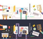 Pojęcie biznes Gromadzenie danych analiza ilustracja wektor