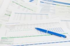 Pojęcie biznesowa pieniężna raportowa księgowości analiza Obraz Royalty Free