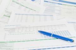 Pojęcie biznesowa pieniężna raportowa księgowości analiza Zdjęcia Royalty Free