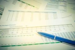 Pojęcie biznesowa pieniężna raportowa księgowości analiza Obraz Stock