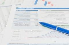 Pojęcie biznesowa pieniężna raportowa księgowości analiza Zdjęcia Stock
