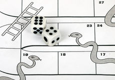 pojęcie biznesowe drabiny ryzykują węże fotografia royalty free