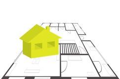 pojęcie budowa dotyka złota domów klucze Zdjęcie Stock