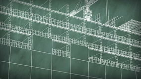 Pojęcie buduje teren przy zarządem szkoły ilustracja wektor