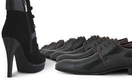 pojęcie buty żeńscy męscy Obrazy Stock