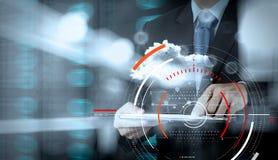 Pojęcie cel ostrości cyfrowy diagram, wykresów interfejsy, wirtualni Fotografia Stock