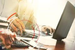 Pojęcie cel ostrości cyfrowy diagram, wykresów interfejsy, wirtualni Zdjęcie Stock