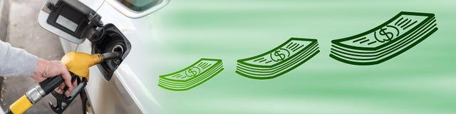 Pojęcie cena paliwa ilustracja wektor