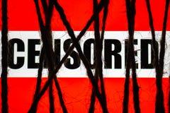 Pojęcie cenzura Internet ograniczający dostęp ściśle zawijający pokazu wuth teksta ` cenzurujący ` obrazy royalty free