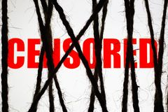 Pojęcie cenzura Internet ograniczający dostęp fotografia royalty free