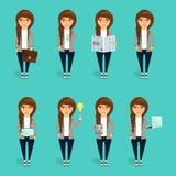 Pojęcie charakter młoda biznesowa kobieta Zdjęcia Royalty Free