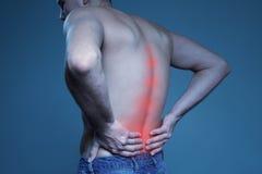 Pojęcie choroba bólowy strzału kręgosłupa studio obraz royalty free
