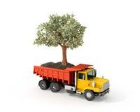 Pojęcie, ciężarówka z pieniądze drzewem Fotografia Stock