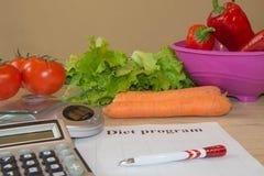 Pojęcie ciężar strata Zdrowa styl życia dieta z świeżymi warzywami Zdjęcie Stock