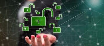 pojęcie cyber ochrona ilustracji