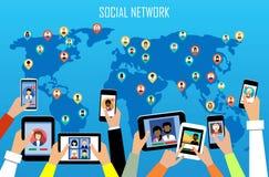 pojęcie cyfrowo wytwarzał cześć wizerunku sieci res socjalny Obraz Stock