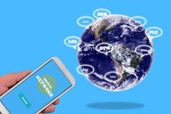 pojęcie cyfrowo wytwarzał cześć wizerunku sieci res socjalny Obrazy Stock