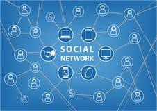 pojęcie cyfrowo wytwarzał cześć wizerunku sieci res socjalny Wektorowy tło z związanymi przyrządami i przyjaciółmi ilustracja wektor