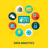 Pojęcie dane analityka ilustracji