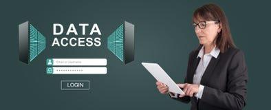 Pojęcie dane dostęp obraz stock