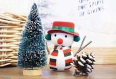 pojęcie dekoraci śnieżny mężczyzna Obrazy Royalty Free