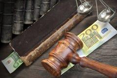 Pojęcie Dla prawa, korupci, bankructwa, kauci, łapówki, przestępstwa Lub F, Obrazy Stock