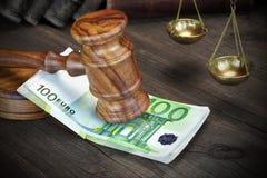 Pojęcie Dla prawa, korupci, bankructwa, kauci, łapówki, przestępstwa Lub F, Obrazy Royalty Free