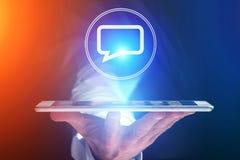 Pojęcie dosłanie email na smartphone interfejsie z wiadomością ic Obraz Royalty Free