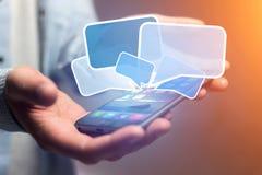 Pojęcie dosłanie email na smartphone interfejsie z wiadomością ic Zdjęcie Royalty Free