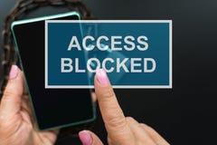 Pojęcie Dostęp zaprzecza obraz stock