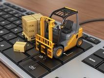 Pojęcie dostarczać, wysyłać lub logistyki, Obrazy Stock