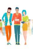 Pojęcie dyskusja między młodzi ludzie ilustracji