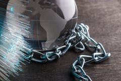Pojęcie dystrybuci sieci technologii blockchain zdjęcia royalty free