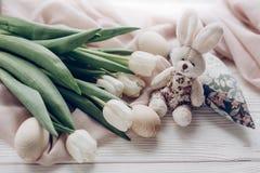 pojęcie Easter szczęśliwy karciany powitania przestrzeni tekst elegancki Zdjęcia Stock