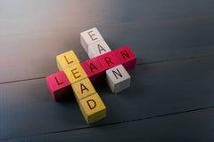 Pojęcie edukaci przywódctwo i biznesowy sukces obrazy stock