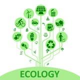 Pojęcie ekologii drzewo - wektor ilustracja wektor