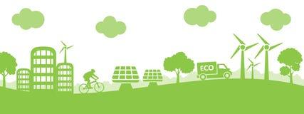 Pojęcie ekologii miasto - wektor ilustracja wektor