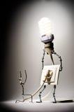 Pojęcie elektryczność Fotografia Stock