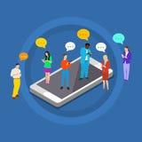 Pojęcie gadki przesyłanie wiadomości komunikacja royalty ilustracja