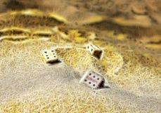 Pojęcie gemowy biznesowy zawalenie się, śmierć hazardzista ilustracji